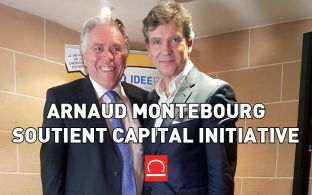 Photo 1 : M. Montebourg porte-parole de Capital Initiative